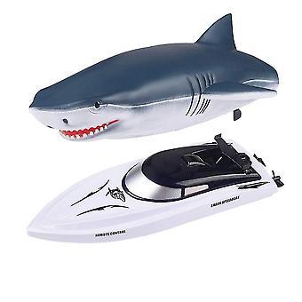 2.4G simulação tubarões lancha rc barco de navegação bidirecional água cai153