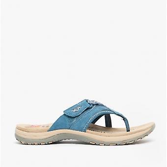Earth Spirit Juliet Ladies Suede Toe Post Sandals Cobalt Blue