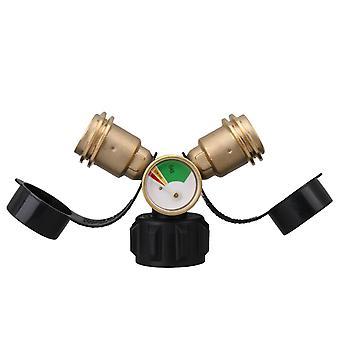 Messinki Y-jakaja tee sovitin painemittari 5-100lb kaasusäiliö WS3804
