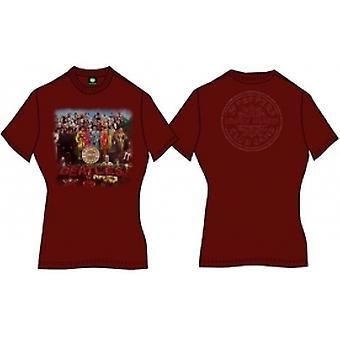 Sgt Pepper Damen Scarlet Vintage Print TShirt: Medium