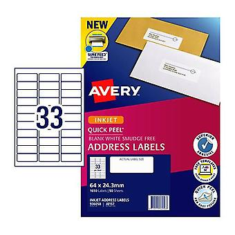Avery Ip Label Qp J8157 33Up Box Of 50