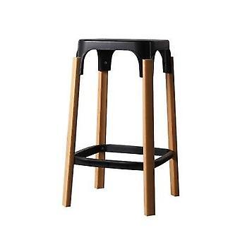 现代设计钢木条凳实木腿金属底座