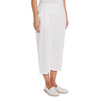 TIGI White Cotton Cropped Trousers