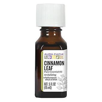 Aura Cacia Essential Oil Cinnamon Leaf, (cinnamomum zeylanicum) 0.5 Fl Oz