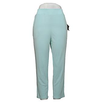IMAN Global Chic Women's Petite Pants Ankle Pant with Pockets Blue 741779CNW