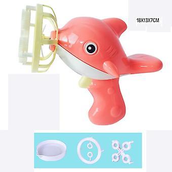 Funny bubble blower guľomet elektrický zbraň s mini ventilátor deti vonkajšie hračky