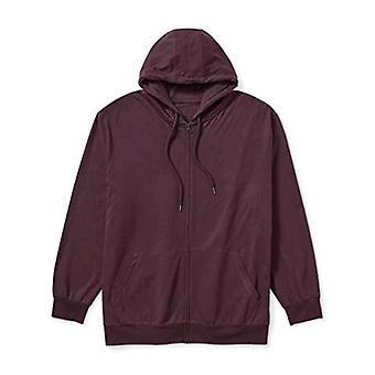 Essentials Herren Standard Big & Tall Lightweight Jersey Full-Zip Hoodie Passform von DXL
