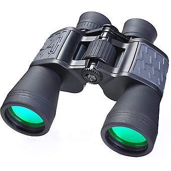 Binocolo 10x50 per adulti, binocolo compatto ad alte prestazioni impermeabile per il birdwatching concerti di osservazione delle stelle escursioni in campeggio,(nero)