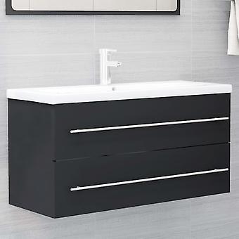 vidaXL lavabo base cabinet grigio 100x38,5x48cm truciolato