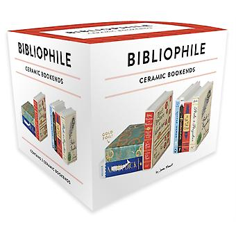 Bibliophile Ceramic Bookends by Illustrated by Jane Mount