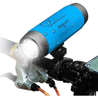 Alto-falante Bluetooth, alto-falante bluetooth portátil Zealot, com lanterna led, impermeável, fonte de alimentação móvel, função de mãos livres de bicicleta, viagem(Azul)