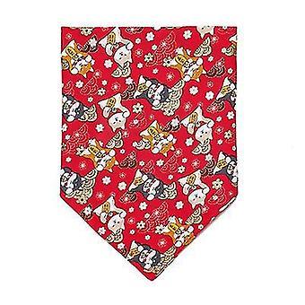 M red dog bandanaclassic plaid snowflake pet triangle bibs scarf accessories x2586