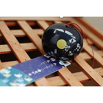 Japanese Cherry Wind Ceramic Wind Bell Belly Home Hanging Decorations Ornament Hanging Decorations