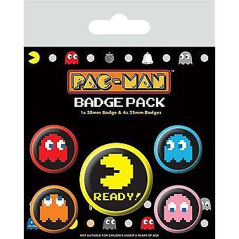 Pac-Man Pixel Badge Set (5er Pack)
