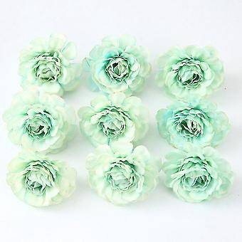 Artificial flowers 5cm silk rose head wedding sina hand bouquet party home garden diy decor christmas gift wreath scrapbooking