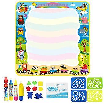 Magic Water Drawing Mat Coloring Coolplay Doodle DIY Mat Pens Painting Board