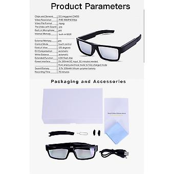 Spy Cams Glasses Hd 1080p Cameras Video Audio For Business Students Travel Driving