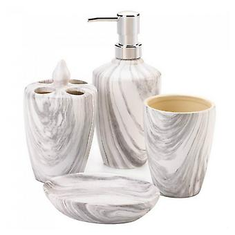Accent Plus Gray Marble Porcelain Bath Accessory Set, Pack of 1