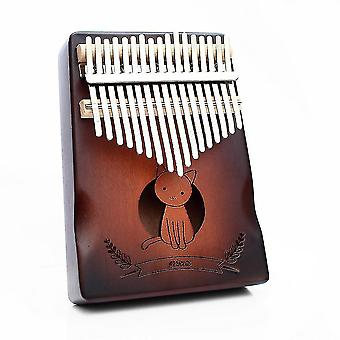 17 Keys kalimba thumb piano cute cat paint musical instrument for music lovers