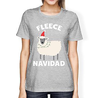 هدية عيد الميلاد مضحك قميص المحملة الصوف الرمادي القنص المرأة الرسم