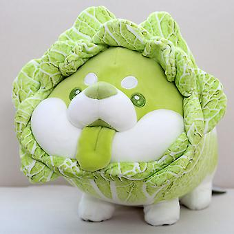 25cm شيبا إينو الملفوف أفخم لعبة الكلب الخضار خرافية الكرتون أفخم النبات أفخم دمية Kawaii وسادة الأطفال لعبة هدية