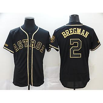 Pánský baseballový dres #9 Baez #2 Bregman #3 Harper Player Jersey Game Fans Sportovní tričko Jméno a Číslo Sešívané Černé S-3xl