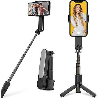Selfie Stick Trépied Stabilisateur de cardan adapté aux téléphones intelligents avec lumières de remplissage Télécommande sans fil