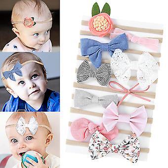 10 pakker muti-stil småbarn baby jente hodebånd-nylon buer hår tilbehør