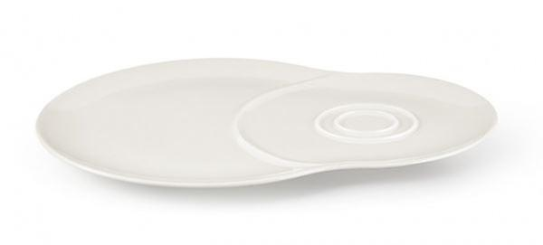 Villeroy & Boch Vivo Voice Double Plate For Cup and Snacks White Porcelain