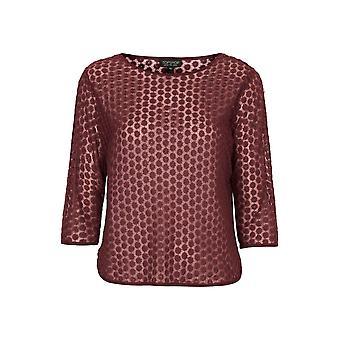 Topshop Daisy Embroidered Mesh Tee TP555-14