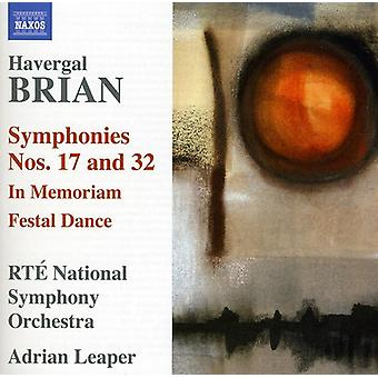 H. Brian - Brian Havergal: Symphonies Nos. 17 & 32 [CD] USA import