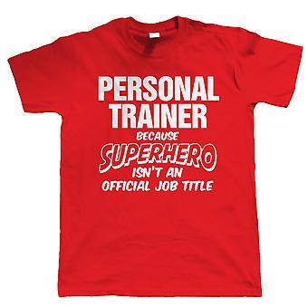 Личный тренер супергерой, Mens Смешные футболки