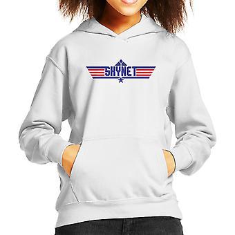 Top Gun Logo Skynet Terminator Kid's Hooded Sweatshirt
