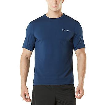 TSLA Tesla MTS04 HyperDri Short Sleeve Athletic T-Shirt - Solid Navy