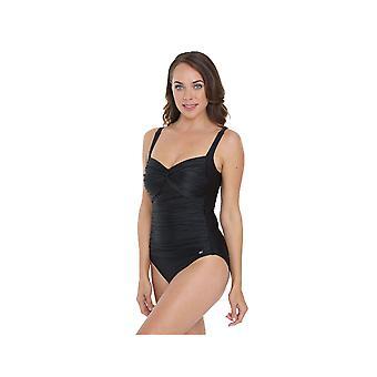 Seaspray SY005542A vrouw zwarte lange lengte kostuum een stuk zwembroek