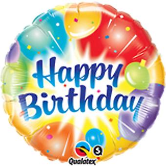Qualatex 18 Inch Birthday Ablaze Round Foil Balloon