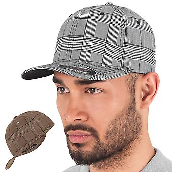 Flexfit GLENN CHECK stretchable sports baseball cap