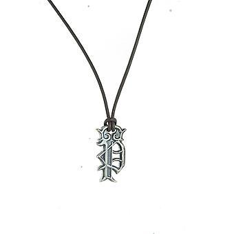 Policajný Pánske náhrdelník kráľovskej nerezovej ocele kožené PJ. 21917PLE/02