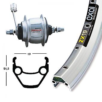 Bike parts 28″ rear Exal ZX 19 + hub gears Shimano 8-speed (RB)