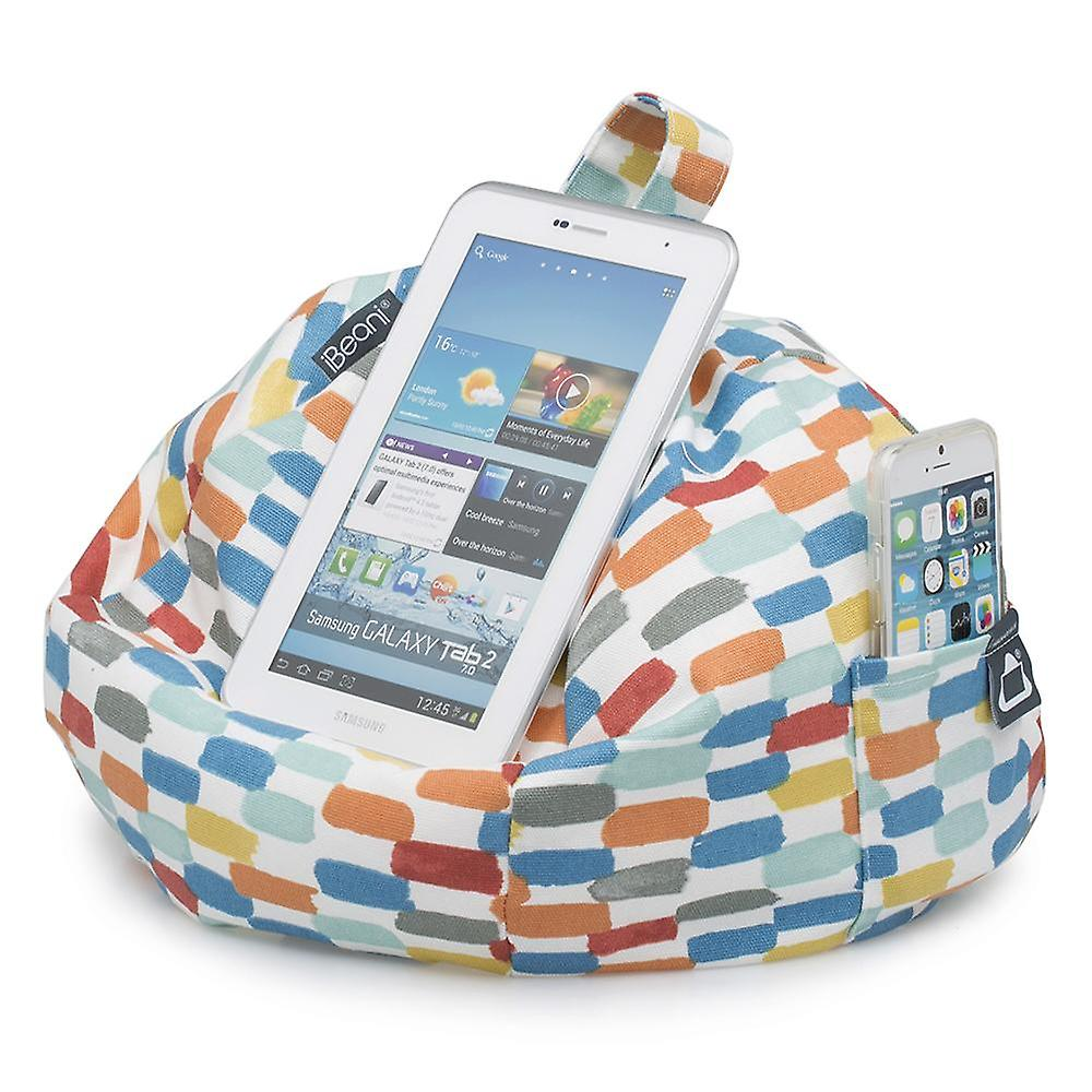 Ipad, tablet & ereader bean bag stand by ibeani - brushstroke orange