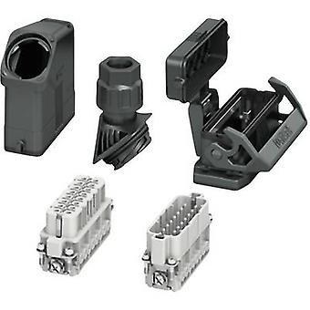 Phoenix Kontakt HC-EVO-A16UT-BWSC-HH-M25-PLRBK Set mit Hülsengehäuse, Steckverbindergehäuse, Schraube, Stiftkontakteinsatz und Steckkontakteinsatz Inhalt: 1 Set