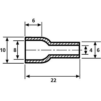 HellermannTyton HV4824 PVC-FR BK 2000 Protective cap Terminal Ø (max.) 8 mm PVC Black 1 pc(s)