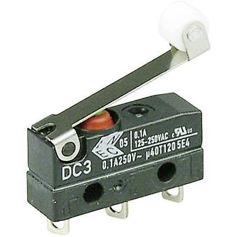 ZF Microswitch DC3C-A1RC 250 V AC 0.1 A 1 x On/(On) IP67 momentary 1 pc(s)