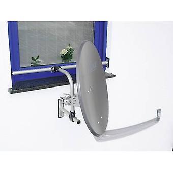 A.S. SAT 12100 SAT Fensterhalterung Geeignet für Tellergröße: < 75 cm Silber