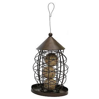 Rosewood Antique Lantern Style Fat Ball Bird Feeder