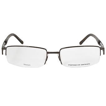 Porsche Design P8703 D rettangolare | Marrone scuro | Montature per occhiali