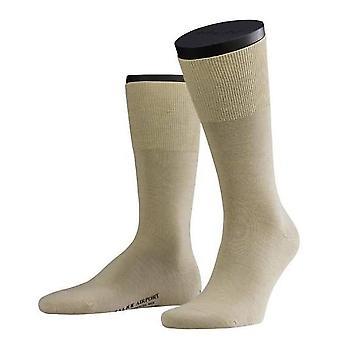 Falke vlna/bavlnené ponožky-béžová