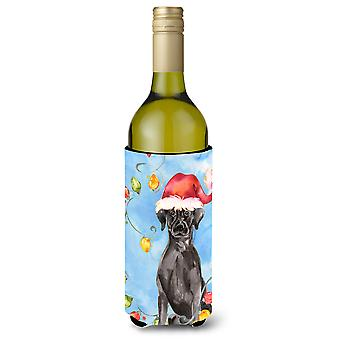 عيد الأضواء السوداء لابرادور المسترد زجاجة النبيذ المشروبات عازل نعالها