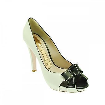 Magrit Peep Toe Platform High Heel Court Shoes
