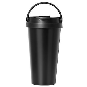 TRIXES acero inoxidable termo Travel café y Copa de bebida 500 ml negro color con manija de fácil limpieza